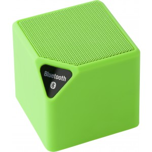 Bluetooth<sup>®</sup> hangszóró, műanyag, világoszöld relámajándék logózható